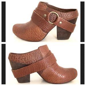 Kork-Ease Brown Leather COURTNEY Mule Clog Heels